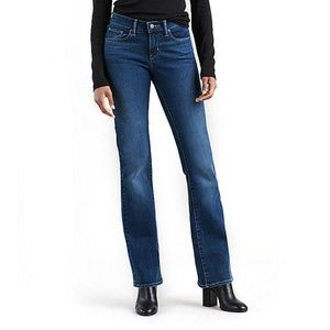 NWT Levis 528 Curvy Bootcut Jeans Med Wash Jeans 0